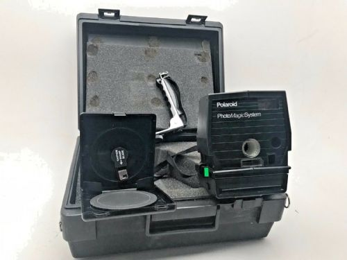 Polaroid Photomagic kit with case 600 camera angles flashbracket and circular cu